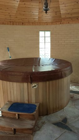 Up Up and Away Lodging: Your own, private hot tub. There's an MP3 dock!