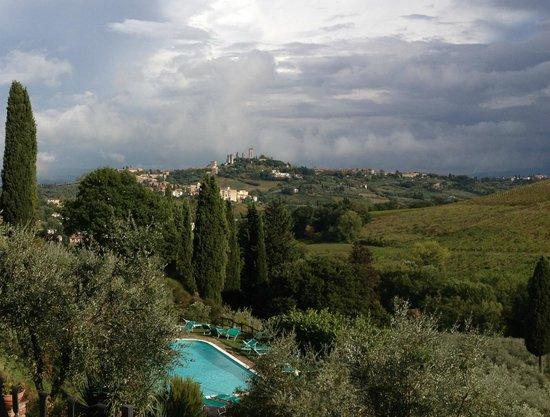 Podere Montese: Udsigt mod San Gimignano