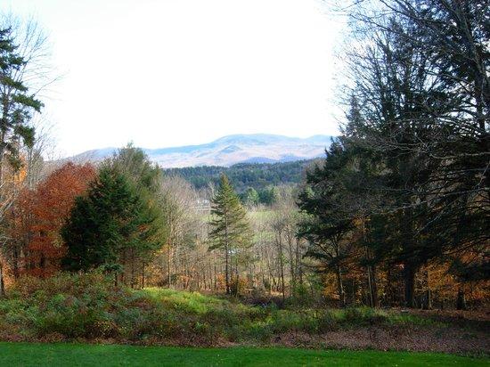 Timberholm Inn: Green Mountain scenery from the inn's deck