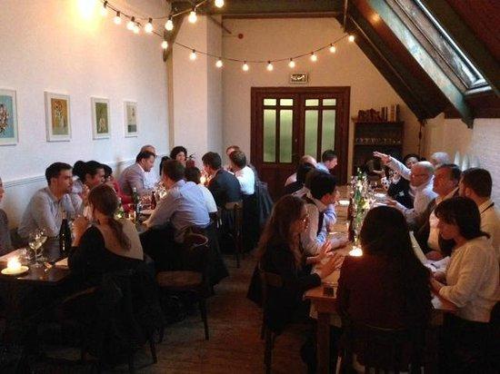 Bak restaurant: big work party in Bak. Yum yum.
