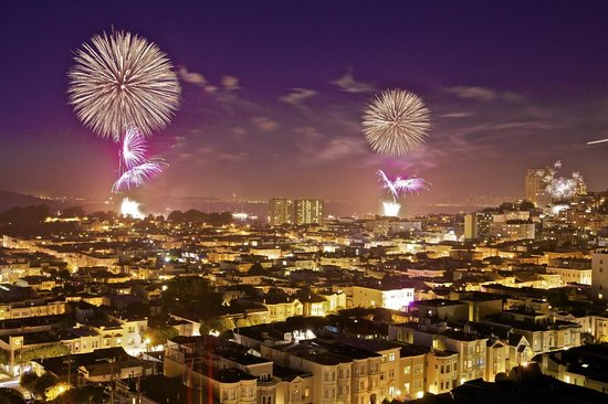 Isla Studio Photography Classes : Fireworks over San Francisco Bay