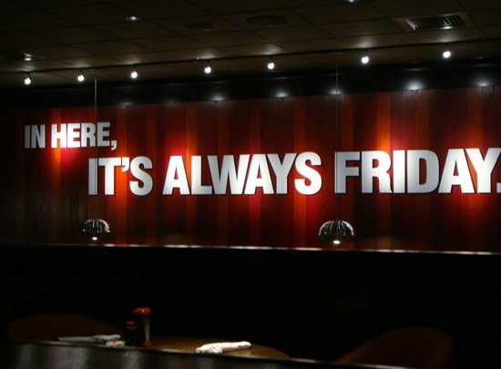 TGI Friday's: Sign inside