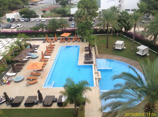 Aguas de Ibiza : View of the Swimming Pool from the room 405