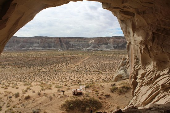 Amangiri: View from the cave; looking back at the hotel