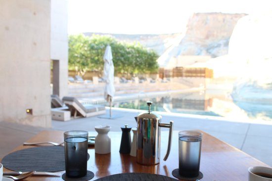 Amangiri: Pool view from dining table