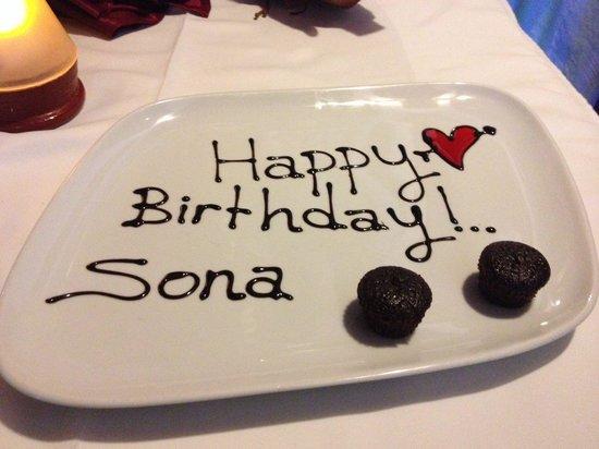 Sade Restaurant : Wonderful birthday meal!