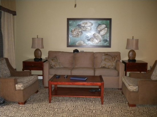 Wyndham Cypress Palms: Living room with pull out sofa
