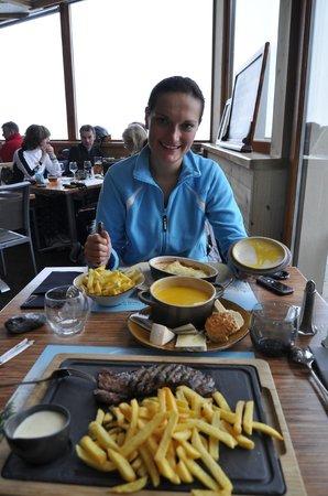 L'Adret de la Flegere: Наш прекрасный обед