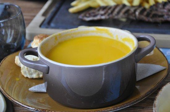 L'Adret de la Flegere: Тыквенный суп (порция на 1 персону!)