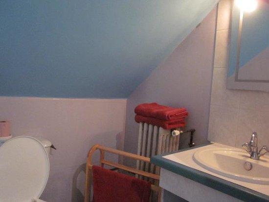La Ferme du Manoir: Salle de bains de la chambre bleur
