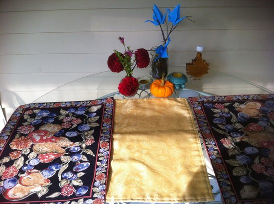 A Stone's Throw Bed and Breakfast: Outside table