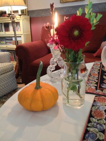 A Stone's Throw Bed and Breakfast: Inside table