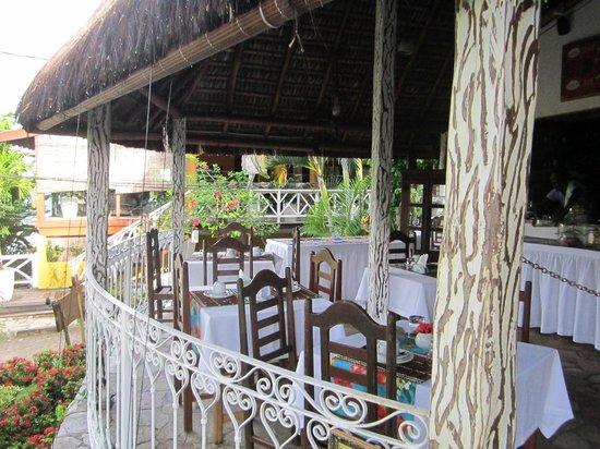 Hotel Pousada Natureza: área cafe com vista mar