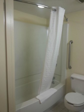 Holiday Inn Express Harrisburg SW-Mechanicsburg: Bathtub with curved shower rod