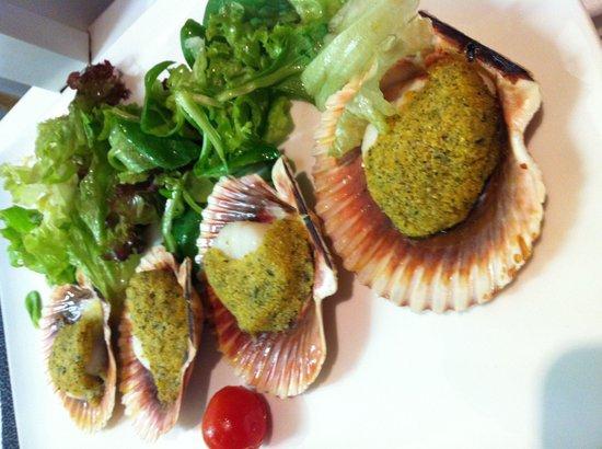 Mayers Bar & Restaurant: Gratinierte Jakobsmuscheln