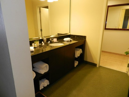 DoubleTree by Hilton Hotel & Spa Napa Valley - American Canyon : Sink and Vanity separate from the Bathroom