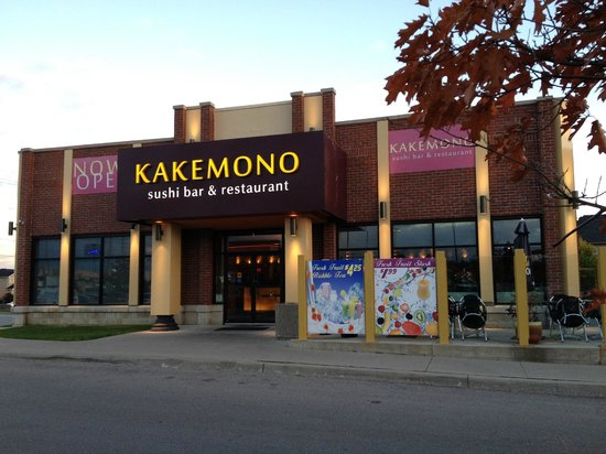 From outside picture of kakemono sushi bar restaurant for Asian cuisine oshawa