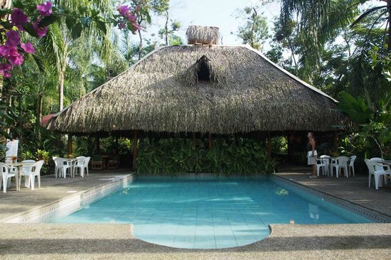 Hotel La Palapa Eco Lodge Resort : Restaurant mit Pool