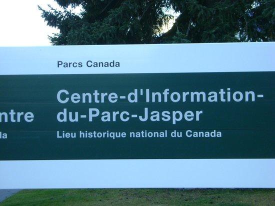 Jasper Information Centre: panneau du centre