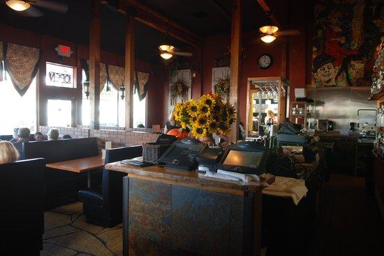 Grapes: Inside the restaurant