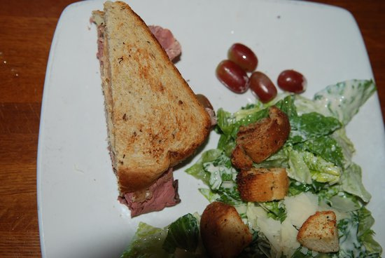 Grapes: Reuben sandwich