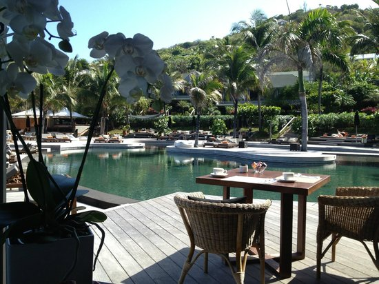 Christopher St Barth: view of pool from restaurant