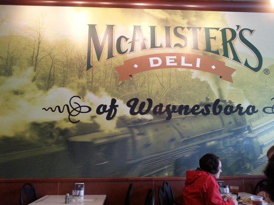 McAlister's Deli: Interior wall