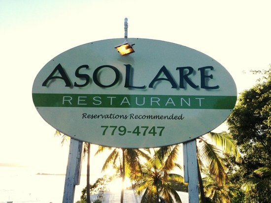 Asolare : Sign out front