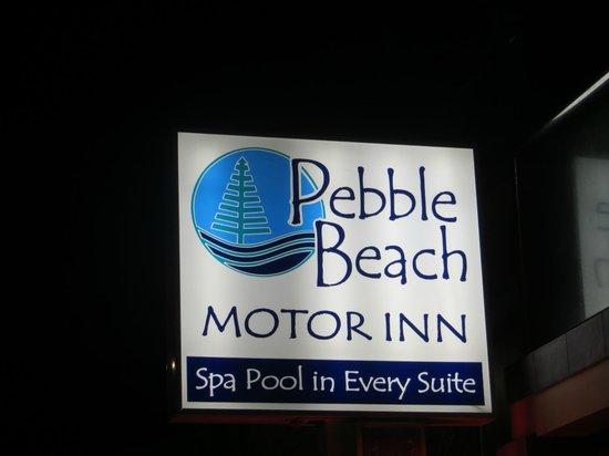 Pebble Beach Motor Inn: All lit up at night