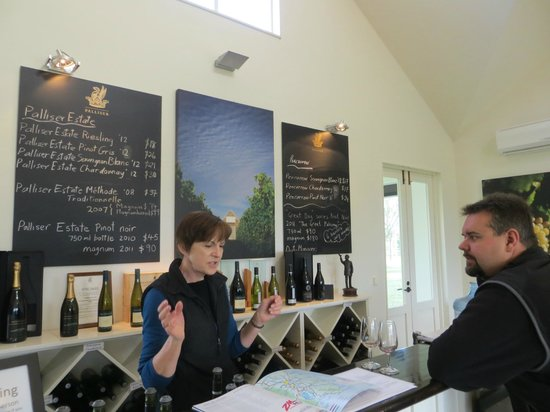 Palliser Estate Winery: Getting the wine info