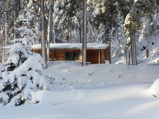 Pine Rest Cabins: Birch Cabin after early Oct. snow storm