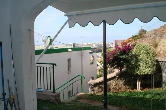 Apartamentos Flamboyan: Vistas a la Playa del Ingles desde la terraza