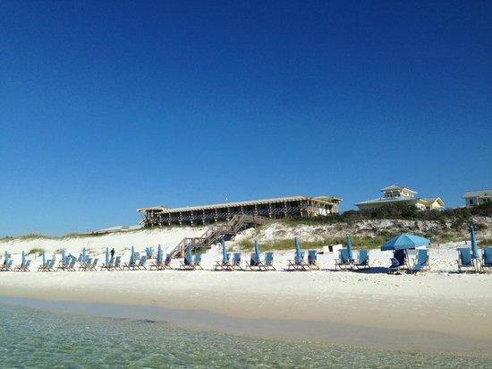 WaterColor Inn: view from beach