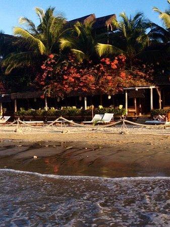 Orixas Art Hotel: Vista do Hotel na praia