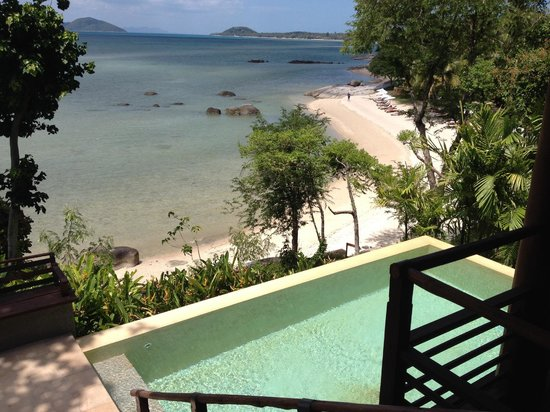 แหลมเส็ต, ไทย: View from beachside villa  - thats your private pool