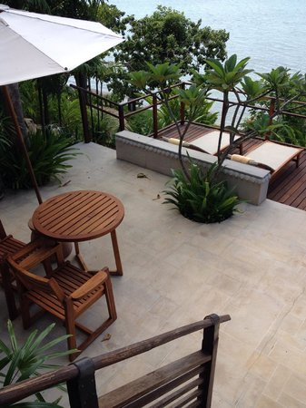 Kamalaya Koh Samui: View from beachside villa  - the balcony, perfect for morning meditation