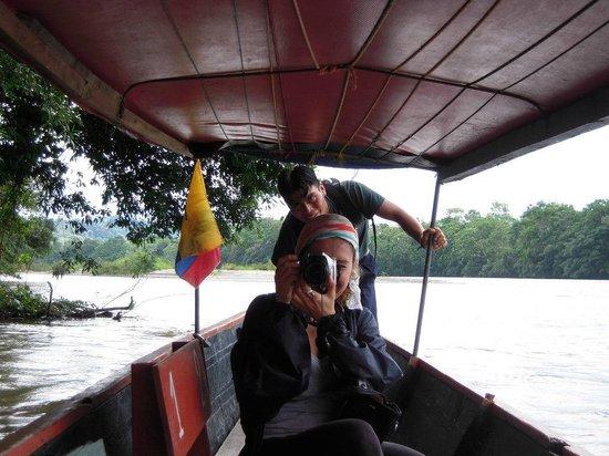 Anaconda Lodge Ecuador : on the dugout