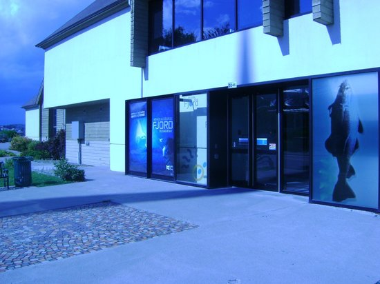 Musée du fjord : L'entrée du musée