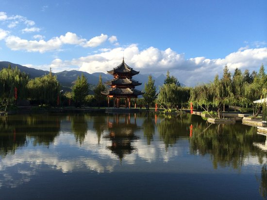 Banyan Tree Lijiang: reflecting pool