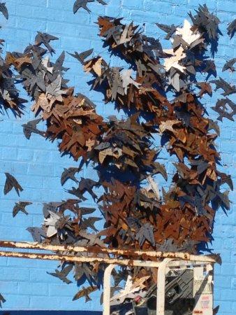 Carytown : Art Teacher's sculpted wall