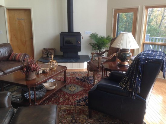 Artesian House Bed & Breakfast: Great Room with Wood Stove. Ready for Cool Weather.