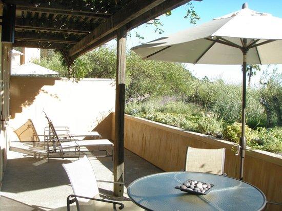 Auberge du Soleil : Our terrace