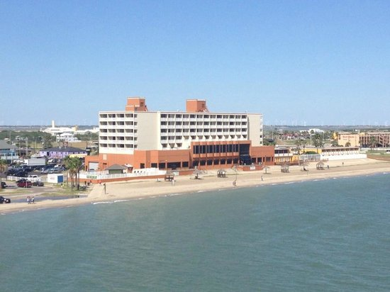 Radisson Hotel Corpus Christi Beach: View of the hotel from U.S.S. Lexington deck