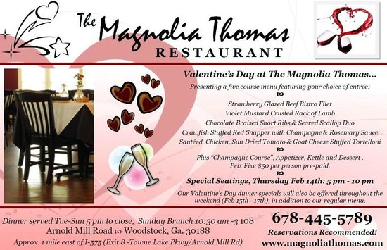 The Magnolia Thomas Restaurant : The ad where the menu was promised that they did not honor!
