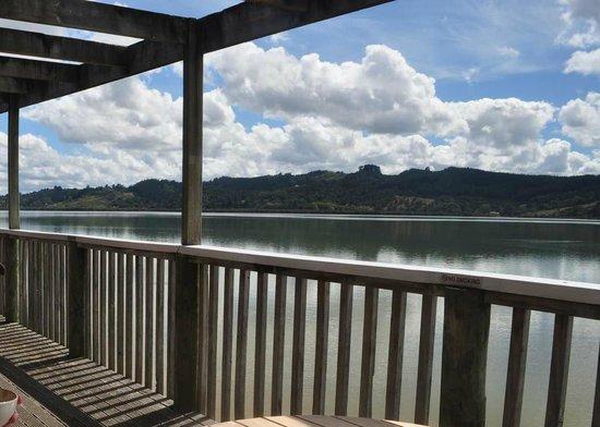 Boatshed Cafe: Outside Balcony view