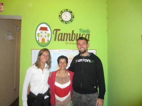 Posada Tambuca: Felt like at home, here with the owner Yolanda