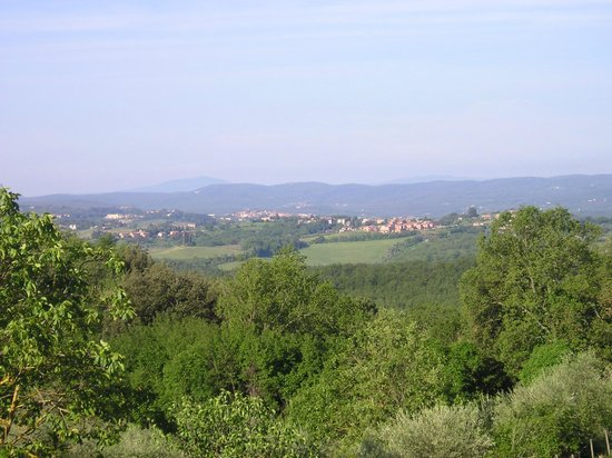 Fattoria di Corsignano: Siena in the background