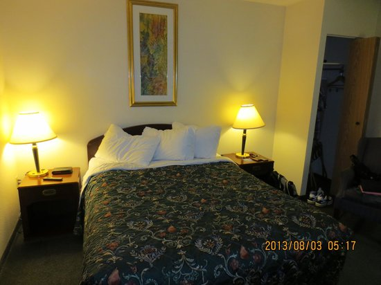 Travelodge Edmonton South : queen size bed