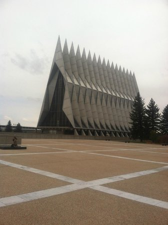United States Air Force Academy: Sideview of the Chapel