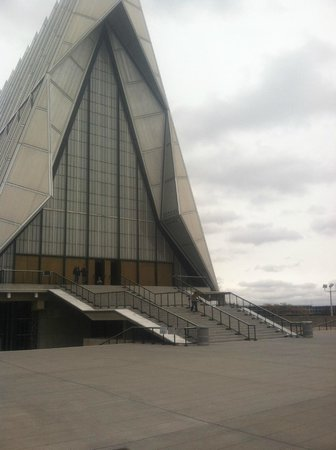 United States Air Force Academy: Front of the famous Chapel